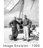 #1300 Stock Photo Of Gus Grissom And Milt Thompson Standing By A Paresev