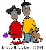 #13066 Two African American Children Brother And Sister Clipart