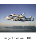 #1308 Stock Photo of Shuttle Atlantis Returning to Kennedy Space Center by JVPD