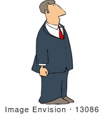 #13086 Caucasian Business Man Wearing a Suit and Tie Clipart by DJArt