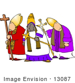 #13087 Three Bishops Clipart