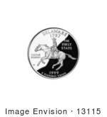 #13115 Picture Of Caesar Rodney On The Delaware State Quarter