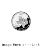 #13116 Picture Of A Star On The Texas State Quarter