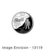 #13119 Picture Of An Astronaut And 1905 Flyer On The Ohio State Quarter