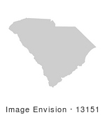 #13151 Picture Of A Map Of South Carolina Of The United States Of America