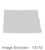 #13172 Picture Of A Map Of North Dakota Of The United States Of America