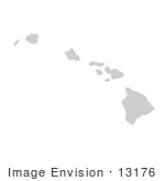 #13176 Picture Of A Map Of Hawaii Of The United States Of America