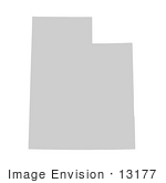 #13177 Picture Of A Map Of Utah Of The United States Of America