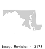 #13178 Picture Of A Map Of Maryland Of The United States Of America