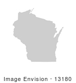 #13180 Picture Of A Map Of Wisconsin Of The United States Of America