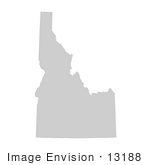 #13188 Picture Of A Map Of Idaho Of The United States Of America