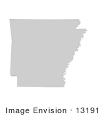 #13191 Picture Of A Map Of Arkansas Of The United States Of America
