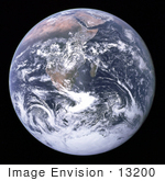 #13200 Picture Of The Earth From Space