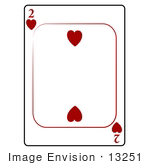 #13251 2 of Hearts Playing Card Clipart by DJArt