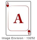 #13252 Ace Of Hearts Playing Card Clipart