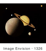 #1326 Photo Of A Saturn System Montage