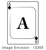 #13265 Ace Of Spades Playing Card Clipart
