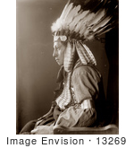 #13269 Picture of a Sioux Native American Man Named Whirling Hawk by JVPD