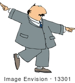 #13301 Dancing Businessman Clipart