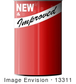 #13311 Red Tin Can Clipart