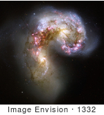#1332 Photo Of Antennae Galaxies (Ngc 4038/Ngc 4039) In The Corvus Constellation