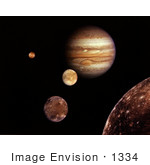 #1334 Stock Photo Of A Jupiter System Montage
