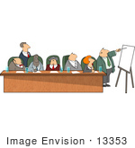 #13353 Multi Ethnic Group Of Business Associates In A Meeting Clipart