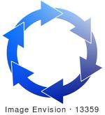 #13359 Blue Arrows in a Circle Clipart by DJArt