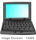#13365 Laptop Computer Clipart