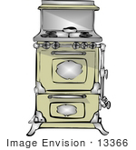 #13366 Old Fashioned Kitchen Stove and Oven Clipart by DJArt