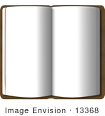 #13368 Open Book With Blank Pages Clipart