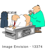 #13374 Middle Aged Caucasian Man Getting A Rectal Exam Clipart