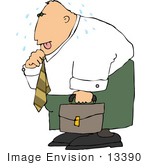 #13390 Sweaty Middle Aged Caucasian Man Clipart