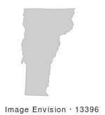 #13396 Picture Of A Map Of Vermont Of The United States Of America