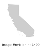 #13400 Picture Of A Map Of California Of The United States Of America