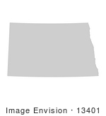 #13401 Picture Of A Map Of North Dakota Of The United States Of America