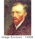 #13408 Picture Of Vincent Van Gogh Self Portrait 1887