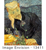 #13411 Picture of Van Gogh's Painting of Dr Paul-Ferdinand Gachet by JVPD