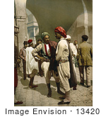 #13420 Picture Of Arabian Men Chatting In The Street In Tunis Tunisia