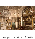 #13425 Picture of an Elegant Bedroom, Bey of Tunis, Kasr-el-Said, Tunisia by JVPD