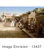 #13437 Picture Of Pedestrians On Marr Street Tunis Tunisia In 1899