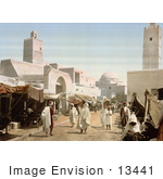 #13441 Picture Of The Muslim City Of Kairouan (Kairwan Kayrawan Al Qayrawan)