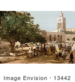 #13442 Picture Of People At The Kasbah Market Tunis Tunisia