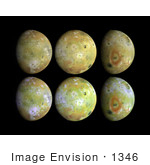 #1346 Stock Photo Of Full Disk Views Of Io Moon Of Jupiter