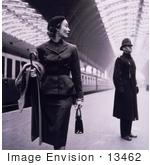 Le jeu du nombre en image... (QUE DES CHIFFRES) - Page 38 13462-picture-of-a-fashion-model-in-a-dress-walking-past-a-guard-in-a-train-statio-by-jvpd