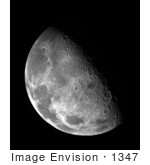 #1347 Stock Photo Of The Moon In The Blackness Of Space