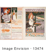 #13474 Picture Of The Front And Back Covers Of Harper'S Bazar Thanksgiving Of 1894 Magazine
