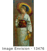 #13476 Picture Of Lily Langtry As A Geisha On A Tobacco Advertisement