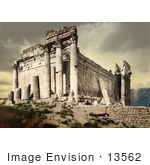 #13562 Picture Of The Temple Of Jupiter Under A Stormy Sky Lebanon