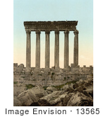 #13565 Picture Of The Temple Of Jupiter Columns In Baalbek